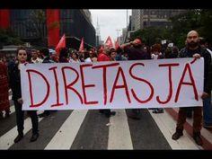 Protesto contra Temer pede nova eleição para a Presidência da República.