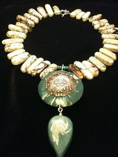 Blue Silver Necklace by Meloyde, via Flickr