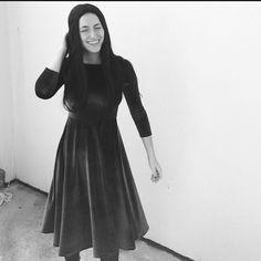 MUSSANEWYORK.COM Moss Velvet Skater Dress