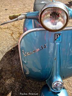 Blue Vespa GS by Patrick from Parka Avenue