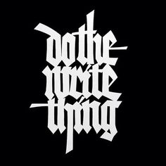 Do the write thing - paper cut  blackletter. #lucabarcellona #calligraphy #lettering #blackletter #blackandwhite