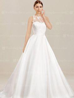 fe62cfefd6 Unique wedding dresses in A-line silhouette are prefect if you want that  modest figure · Oszałamiające Suknie ŚlubneSuknie ...