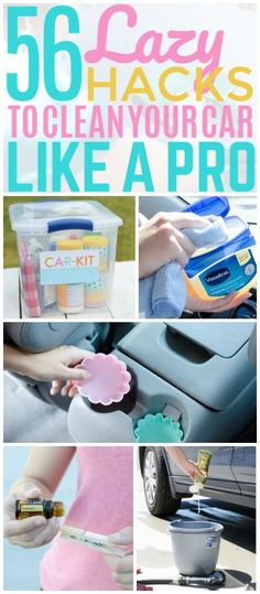 cleaning cars Here are 56 budget-friendly and cool DIY car cleaning hacks that'll make cleaning your car easier. You'll wish you'd known about these sooner! Diy Car Cleaning, Deep Cleaning Tips, Toilet Cleaning, House Cleaning Tips, Diy Cleaning Products, Spring Cleaning, Daily Cleaning, Organisation Hacks, Organizing Hacks
