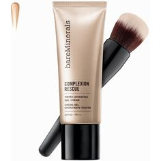 Bareminerals Complexion Rescue Tinted Hydrating Gel Cream (195 BRL) ❤ liked on Polyvore featuring beauty products, hygiene, mineral make up, wheat and womens-fashion