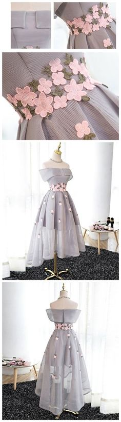 2017 Homecoming Dress Tulle Off-the-shoulder Short Prom Dress Party Dress JK078 #partydress