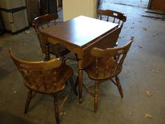 Small Kitchen Table with Matching 4 Chairs