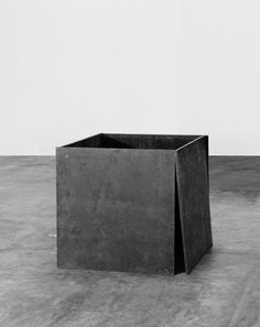 "Richard Serra (American, born 1939), One Ton Prop (House of Cards), 1986 — Lead antimony, four plates, each 48 x 48 x 1"" (122 x 122 x 2.5 cm"