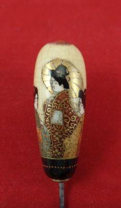 Exquisite Vintage Antique Satsuma Hatpin.