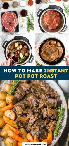 Pot Roast is a classic dish everyone should learn how to make, and it's never been easier than with this Instant Pot Pot Roast recipe! Tender beef, potatoes, carrots, and that sauce is so delicious. Best Beef Recipes, Pot Roast Recipes, Roast Recipe Easy, Pressure Cooker Pot Roast, Instant Pot Pot Roast, Winter Dishes, Best Instant Pot Recipe, Carrots, Easy Meals