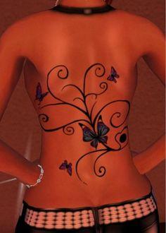 Gwen's Tattoos - Full Back Butterfly Tattoo