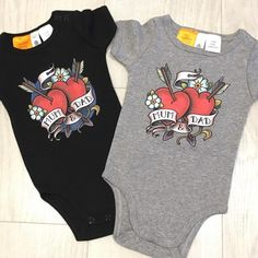Here's a couple of onesies I designed and printed on @ascolour products for my son Ezra. @samphillipsillustration) on Instagram: