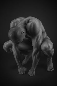 crouching pose