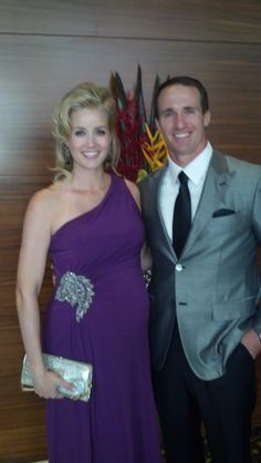 Drew Brees and his wife en route to the ESPYs red carpet (July 11, 2012)