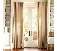 @Rebecca Minnette, kind of like this, but with smaller curtains and hooks on both sides?