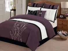 8-Pc Taylor Comforter Set- Plum (Multiple Sizes) for $64.99 - $69.99
