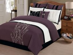 8-Pc Taylor Comforter Set- Plum (Multiple Sizes) for $64.99 - $69.99