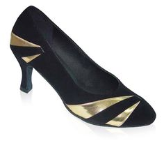 Black and gold Ladies Pumps 683101 - currently the top choice!