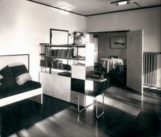 Lucia Moholy, Meisterhäuser Dessau, Wohnzimmer im Haus Moholy-Nagy, 1927-28