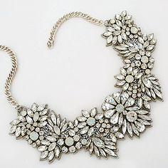 Crystal Bouquet Bridal Statement Necklace SALE!!