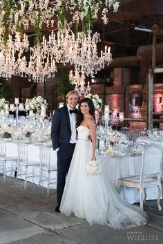 WedLuxe– The Bride Wore Romona Keveza at this Evergreen Brick Works Wedding   Photography By: 5ive15ifteen Photo Company Follow @WedLuxe for more wedding inspiration!