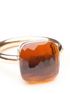 Pomellato Madeira Quartz Maxi Nudo Ring by Pomellato  from Amanda Pinson Jewelry