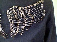 safety pin wings for back of jacket or vest