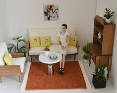 sofa accessories names modern linen sectional 163 best 1 6 scale playscale living room furniture and rug miniature doll house floor roombox carpet diorama decor table b