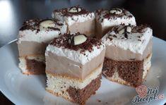 Pokud nevíte, co byste připravili na oslavu jako sladké potěšení, zvolte tyto luxusní řezy, které se podobají známému pejskovi - dalmatin. Autor: Jaja79 Eastern European Recipes, Graham Crackers, Tiramisu, Sandwiches, Cheesecake, Food And Drink, Sweets, Cookies, Cheesecakes