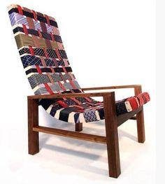 Fun woven chair from Dishfunctional Design