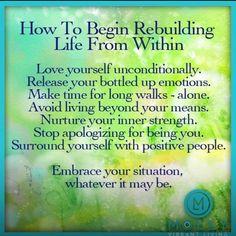 How to rebuild yourself #Broken