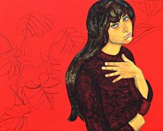 RED LONELINESS(Acrylic On Canvas)by Kajori Ghoshal.