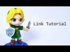 Legend of Zelda Chibi Link polymer clay tutorial