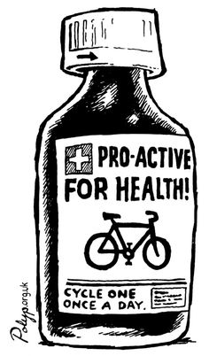 Great advice! - cycle one once a day to stay healthy!