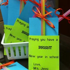 Gifts for students beginning school year.