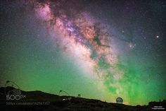 La Palma night Skies  Air glow from Roque de los Muchachos observatories.  Image credit: http://ift.tt/29LHneL Visit http://ift.tt/1qPHad3 and read how to see the #MilkyWay  #Galaxy #Stars #Nightscape #Astrophotography