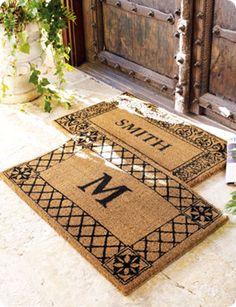 Monogrammed Coir Doormats