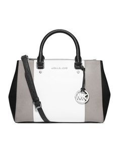 I really want this purse! MICHAEL Michael Kors Medium Sutton Center-Stripe  Satchel. 2e9b349e7b6d6