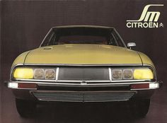 1970-1975 Citroen SM. Designed by Robert Opron. first shown at the Geneva Motor Show in March 1970. Drag coefficient of 0.26. 2.7 or 3.0 liter Maserati V6 mounted mid-front. Power output ranged from 170-180bhp. The SM had self-leveling lights that turned with the steering. Peugeot bought Citroen in 1975 and stopped production of the SM. 3200-3400lbs. ~13,000 SMs were produced.