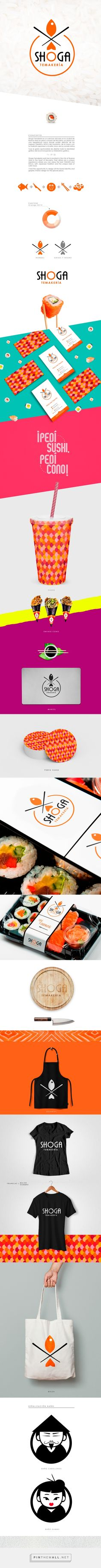 Branding, graphic design and packaging for Shoga Temakería on Behance by Nandox82 • Fernando Augusto Rodriguez Mexico, City, MX curated by Packaging Diva PD. Love this sushi concept.