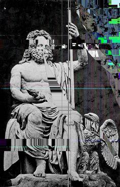 Glitch statue
