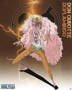 Poster affiche One Piece Grand Corsaire Shichibukai Don Quichotte Doflamingo 40 x 50 cm