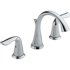 Delta Faucet 3538-MPU-DST Lahara Two Handle Widespread Bathroom Faucet w/Metal Pop-Up Drain Polished Chrome - eFaucets.com