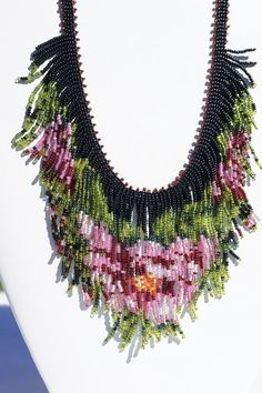 seed bead necklace Tea Rose beadwork necklace beadweaving fringe necklace seed bead choker necklace, by Trendydeals Beaded Choker Necklace, Fringe Necklace, Seed Bead Necklace, Seed Bead Jewelry, Beaded Jewelry, Jewellery, Rose Necklace, Seed Beads, Bijoux Diy