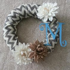 Cute wreath my sister-in-law made me.