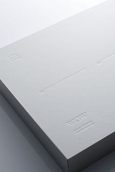 White on white, the Wow portfolio VIP box by Japanese studio Artless Inc _