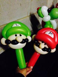 Mario and Luigi balloons