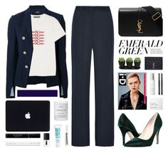 """Green on my feet"" by igedesubawa ❤ liked on Polyvore featuring Theory, Kate Spade, AlexaChung, Yves Saint Laurent, NARS Cosmetics, Madara, Japonesque, Byredo, Christian Dior and Dermalogica"