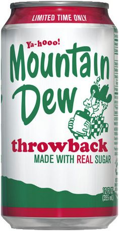 Willy the Hillbilly is back! Mountain Dew Throwback, 12 oz Cans (Pack of 12 Cans) Mountain Dew Throwback by Pepsi-Cola Fun Drinks, Beverages, Carbonated Soft Drinks, Best Soda, Pepsi Cola, Coke, Pop Cans, Mountain Dew, The Good Old Days