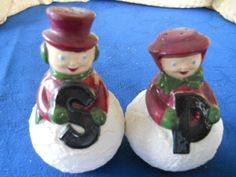 Mr. and Mrs. Snowman Salt and Pepper Shakers  by DEWshophere, $8.99