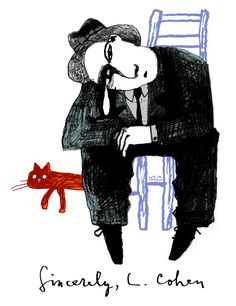 Sincerely, L. Cohen Art Print by Daniel Ursache - X-Small Adam Cohen, Leonard Cohen, Movie Magazine, Images And Words, Film Posters, Appreciation, Give It To Me, September 21, Art Prints